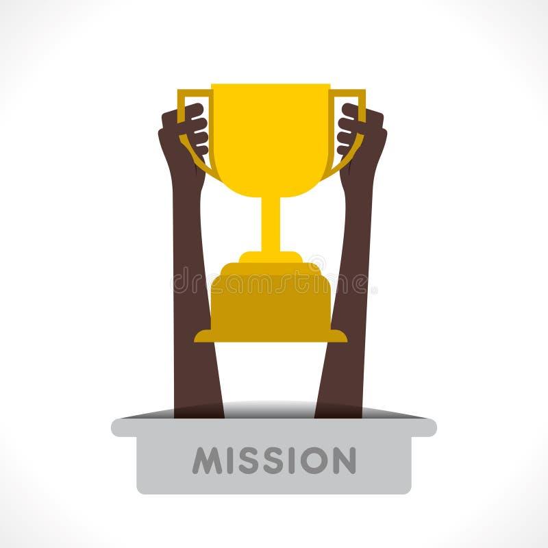 Download Creative Winning Trophy Design Stock Vector