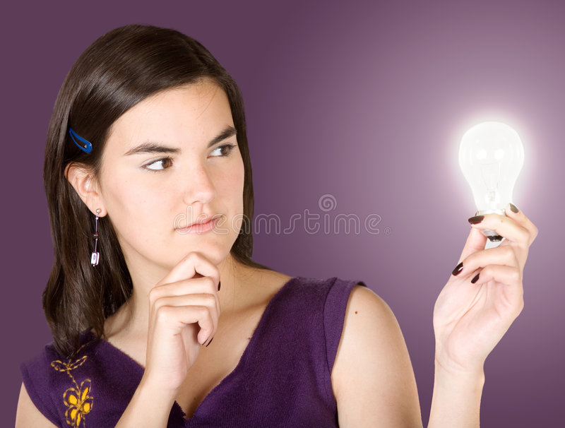 Download Creative Woman Thinking Of Ideas Stock Photo - Image: 1317948