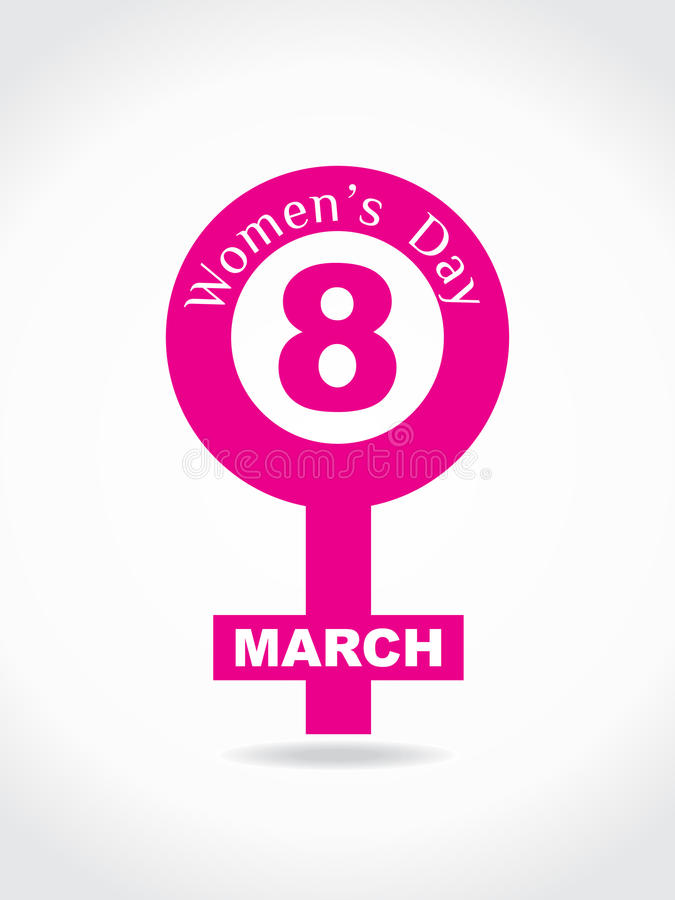 Download Creative Women's Day Design Element. Stock Images - Image: 23430774