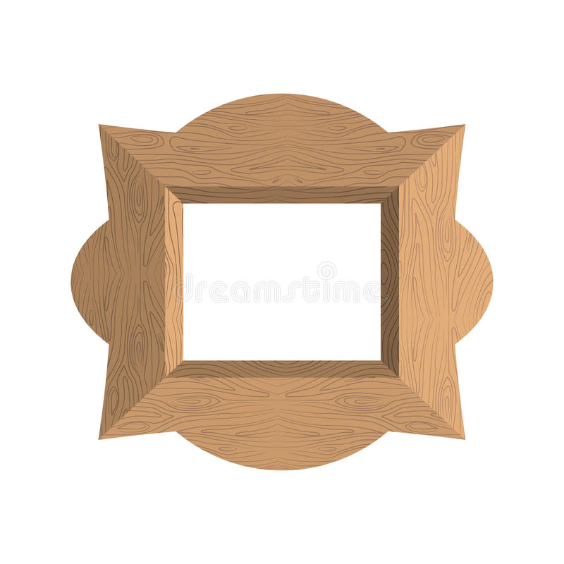 Creative wooden frame. Vector illustration of an empty photo fra vector illustration