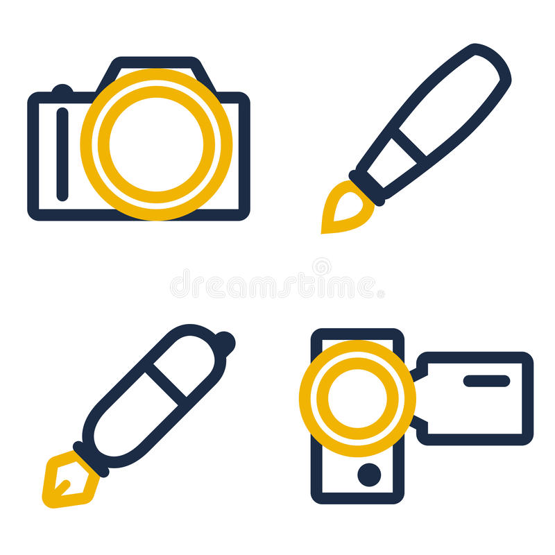 Download Creative work tools stock vector. Image of photo, camera - 16868451