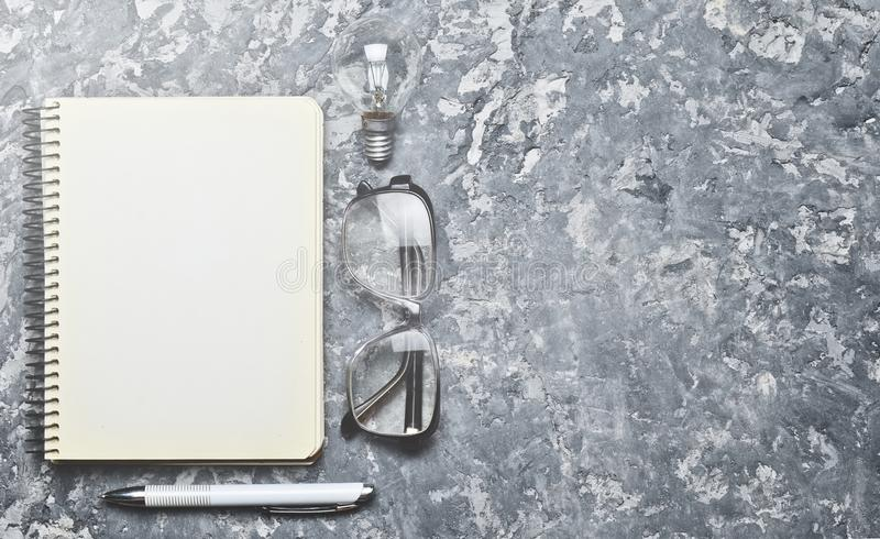 The creative workspace of the writer is inspiring to create. royalty free stock images