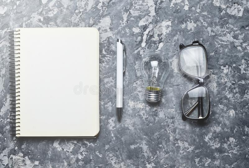 The creative workspace of the writer is inspiring to create. stock photos