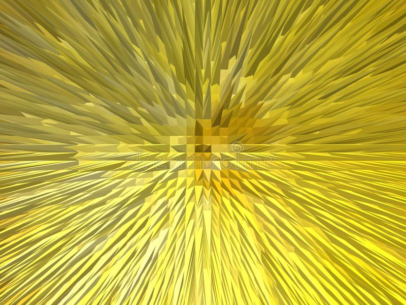 Creative yellow abstraction stock image