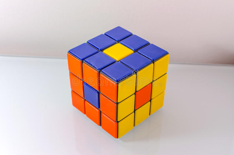 Download Creatively Solved Rubiks Cube Editorial Photography - Image: 35057242