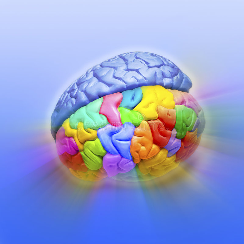 Creatividad del cerebro fotos de archivo