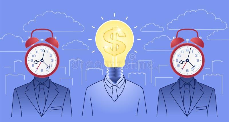 Creatividad en negocio ilustración del vector