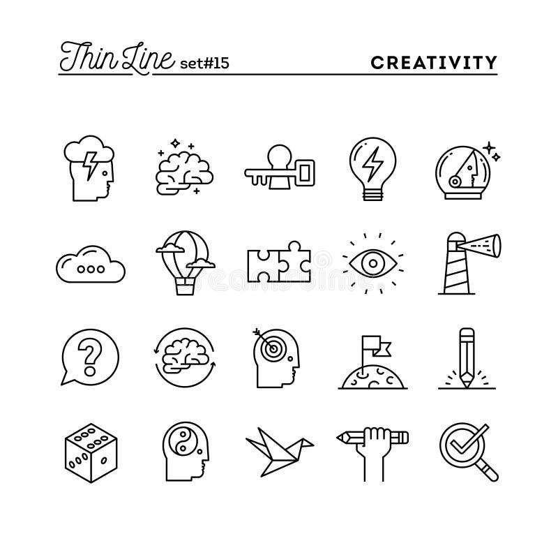 Creatividad, imaginación, solución de problemas, poder y más, t de la mente libre illustration