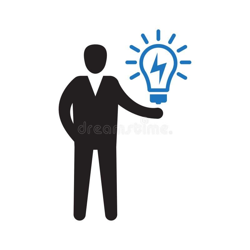 creatividade Encontrando ideias novas Resolu??o de problemas ilustração stock