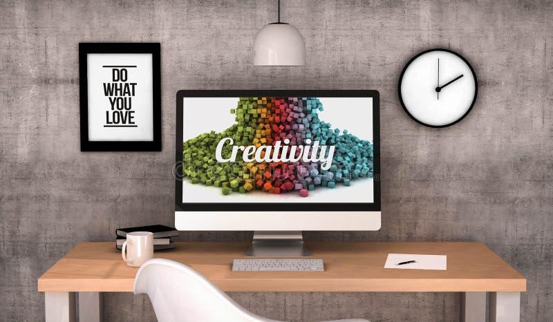 Creatività del computer dell'area di lavoro illustrazione vettoriale