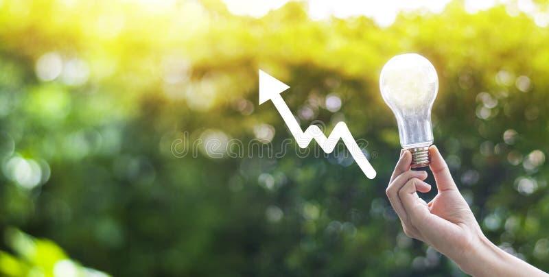 Creatività di protezione dell'ambiente sulla giornata per la Terra o sul concetto di energia di risparmio e dell'ambiente immagini stock libere da diritti