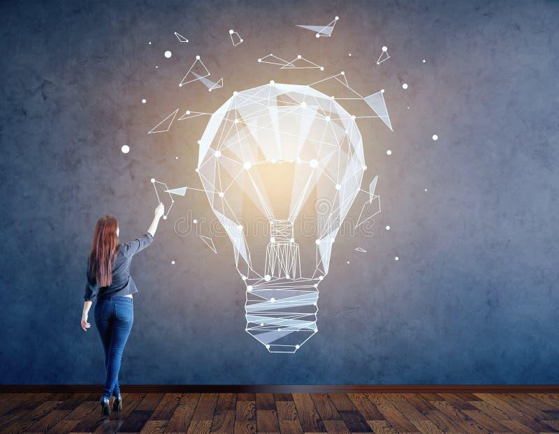 Creativiteit en ideeconcept stock illustratie