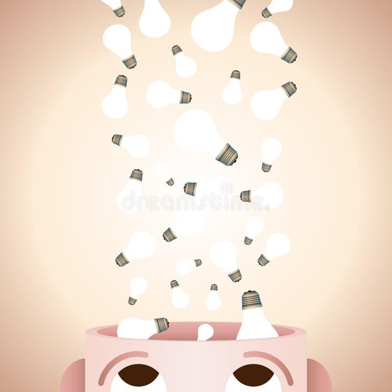 Creativiteit in Mening royalty-vrije illustratie