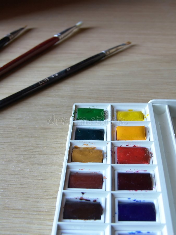 Download Creativity stock image. Image of crafts, brushes, paint - 11851