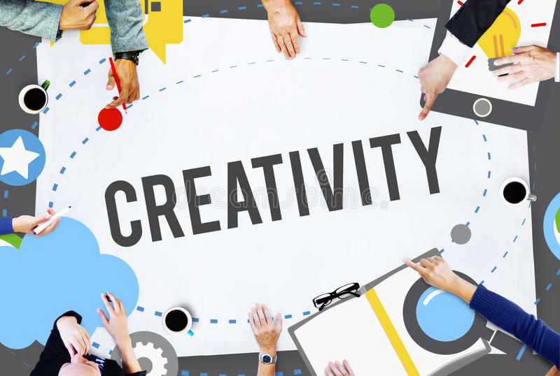 Creativity Artistic Imagination Inspiration Innovation Concept.  royalty free stock image