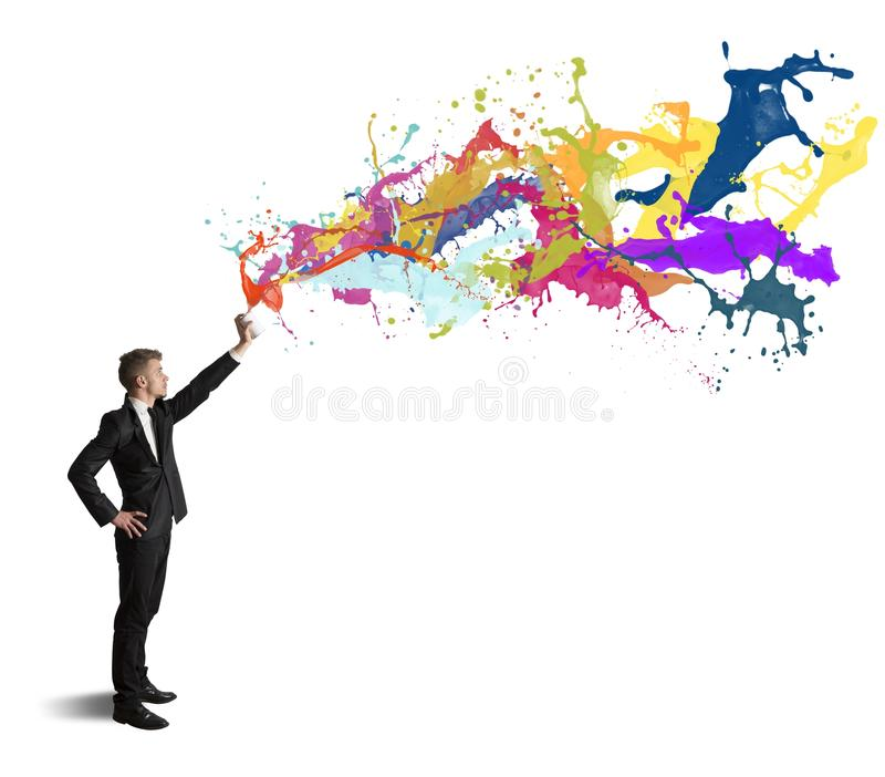 Creativity in business. Concept of creativity in business on white background royalty free stock photos
