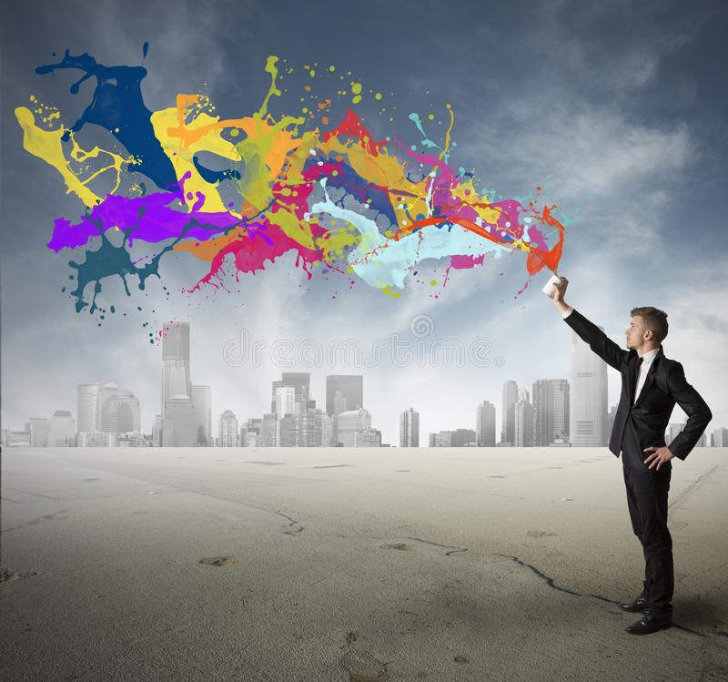Creativity in business. Concept of creativity in business royalty free stock photography
