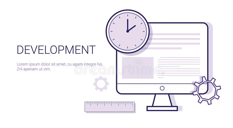 Creativity Business Concept Process Of Creative Development Web Banner With Copy Space stock illustration