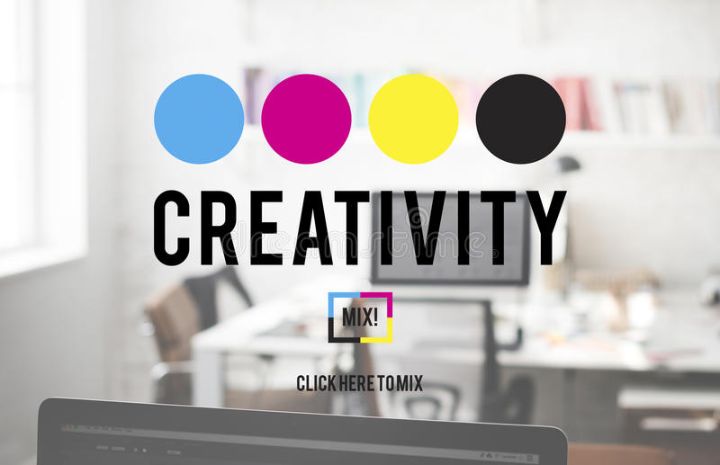 Creativity Color Imagination Creating Process Concept stock photography