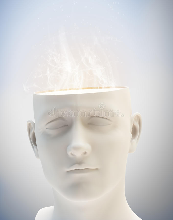 Download Creativity Concept - Abstract Human Head Stock Illustration - Image: 29417069