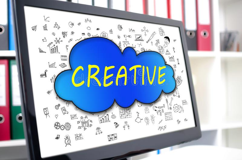 Creativity concept on a computer screen. Creativity concept shown on a computer screen royalty free stock images