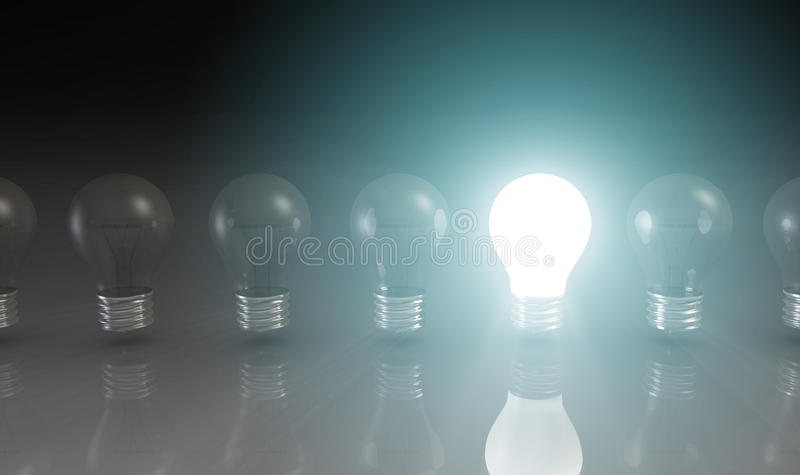 Creativity Concept with Light Bulb stock photography