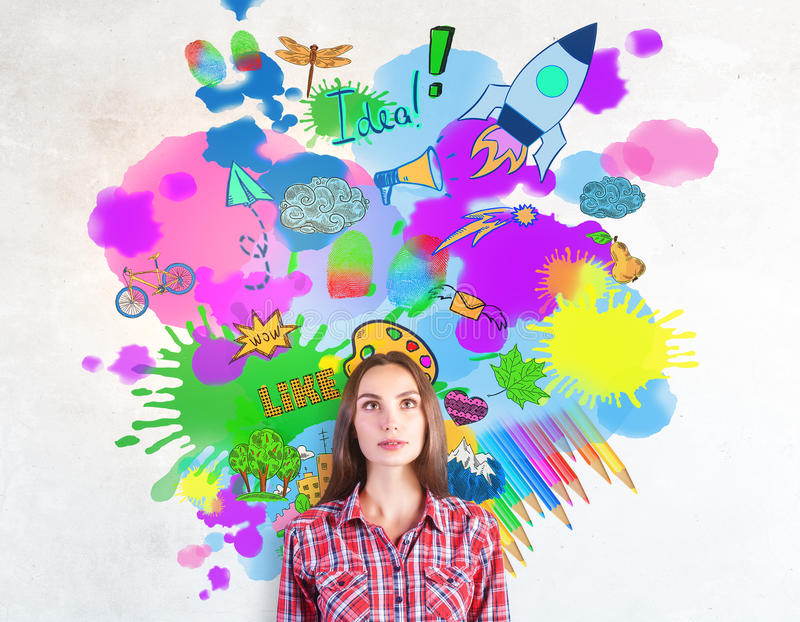 Download Creativity concept stock illustration. Illustration of european - 88226950