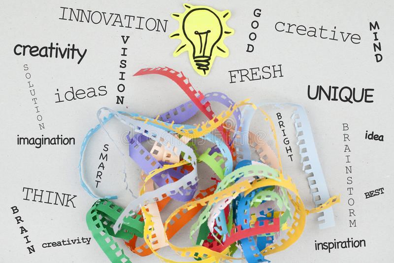Creativity Concept Word Cloud stock photo
