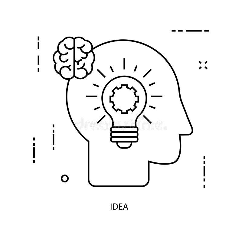 Creativity. Business line illustration stock illustration