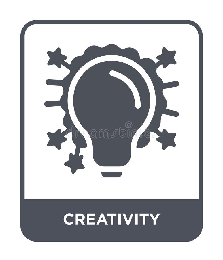 creativity icon in trendy design style. creativity icon isolated on white background. creativity vector icon simple and modern vector illustration