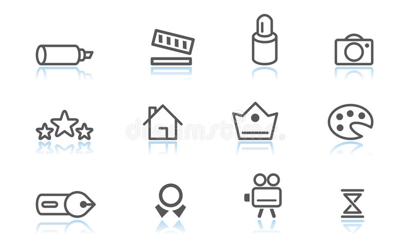 Download Creativity icons stock vector. Image of colors, digital - 1708949