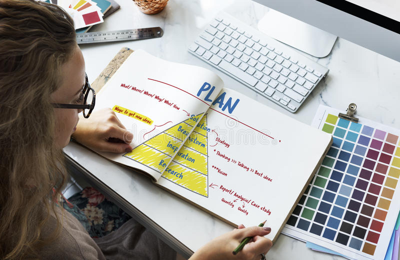 Creativity Innovation Plan Strategy Concept stock image