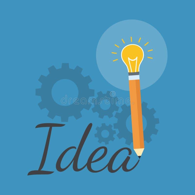 Creativity Inspiration Concept Flat Design Stock Vector