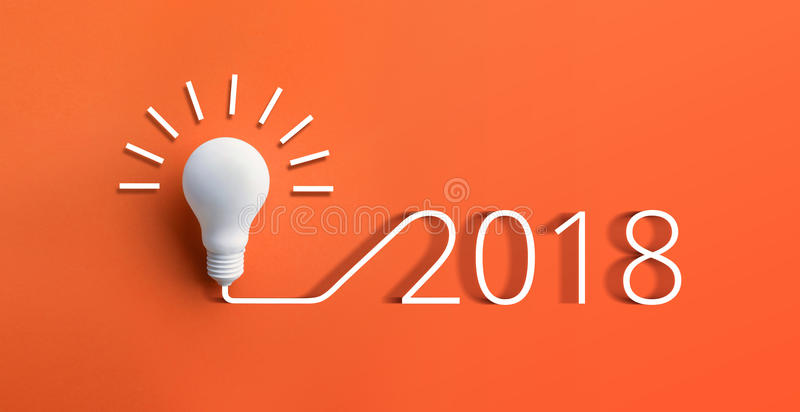2018 creativity inspiration concepts with lightbulb royalty free stock photo