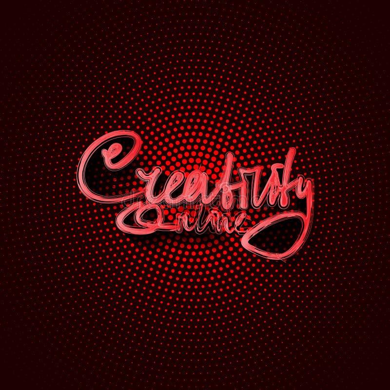 Creativity online stock illustration
