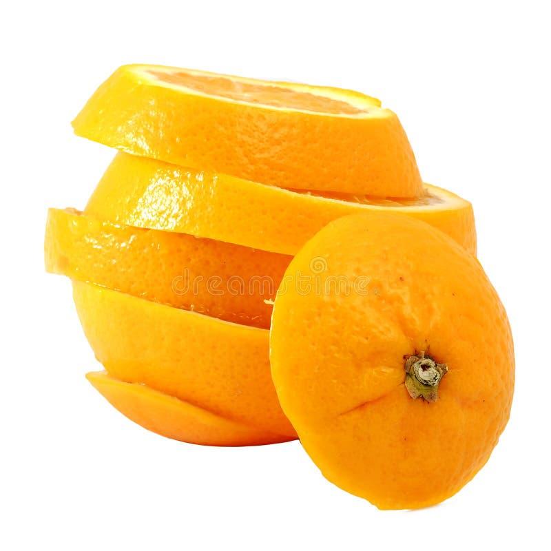 Creativo componga l'arancia navel dello scorrevole fotografia stock libera da diritti