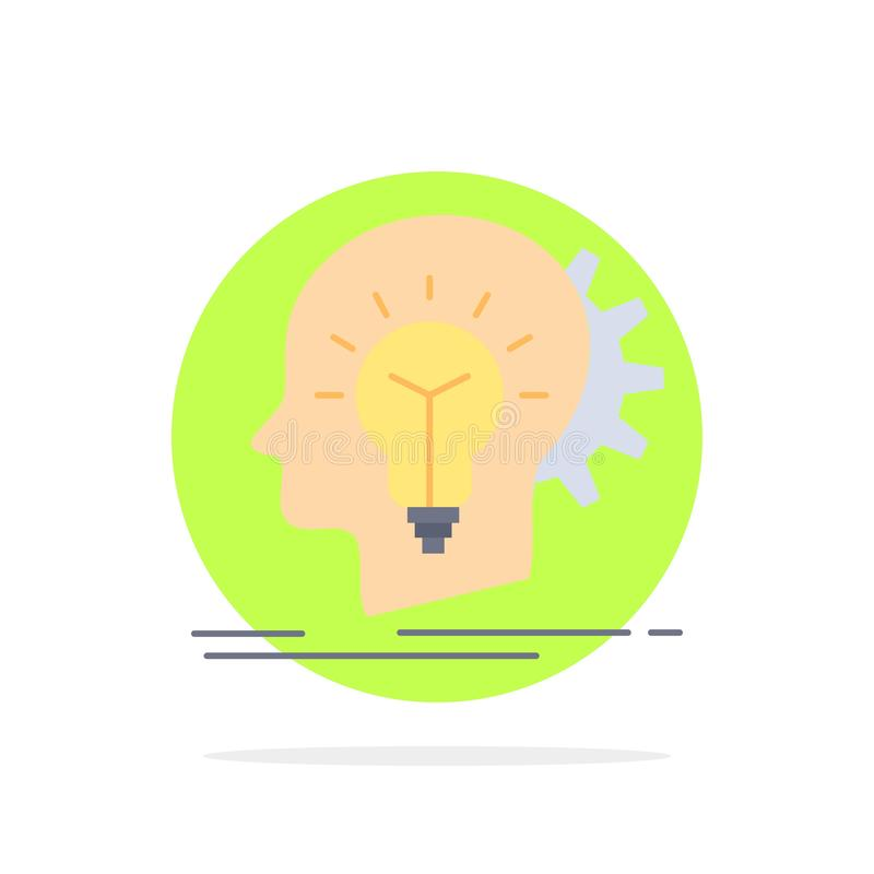 creativo, creatività, testa, idea, vettore piano di pensiero dell'icona di colore royalty illustrazione gratis