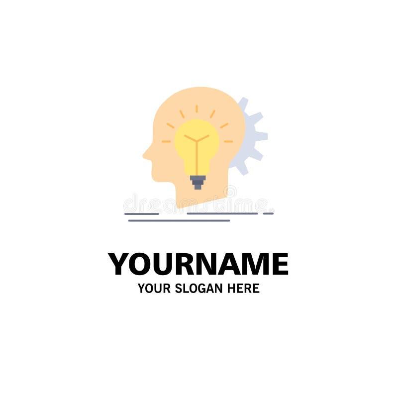 creativo, creatività, testa, idea, vettore piano di pensiero dell'icona di colore illustrazione di stock