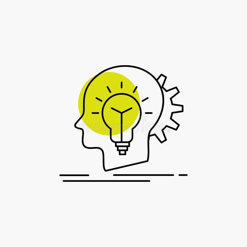 creativo, creativit?, testa, idea, linea di pensiero icona royalty illustrazione gratis