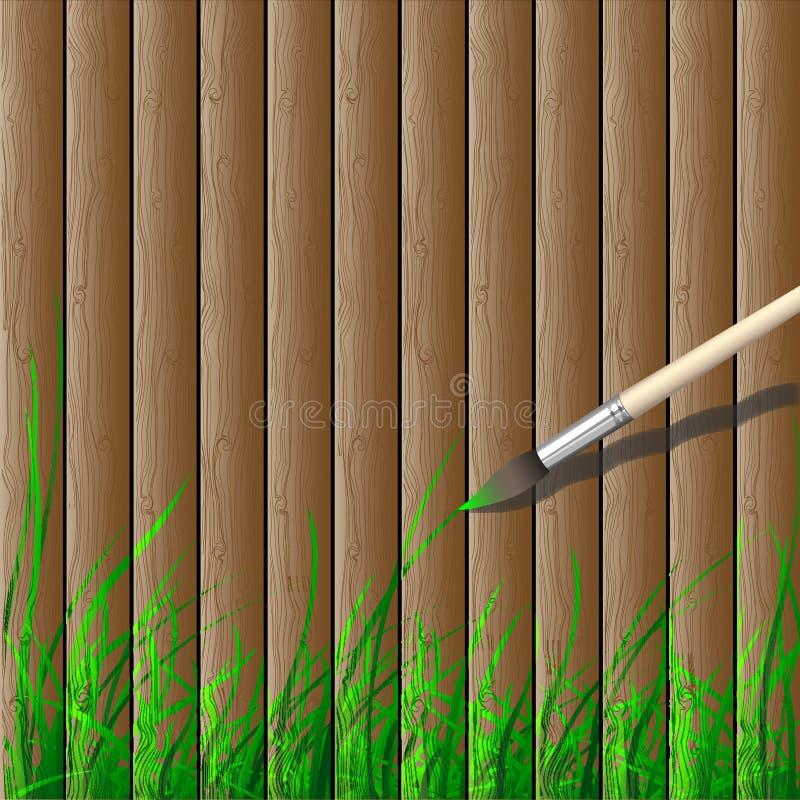 Creativo de madeira ilustração do vetor