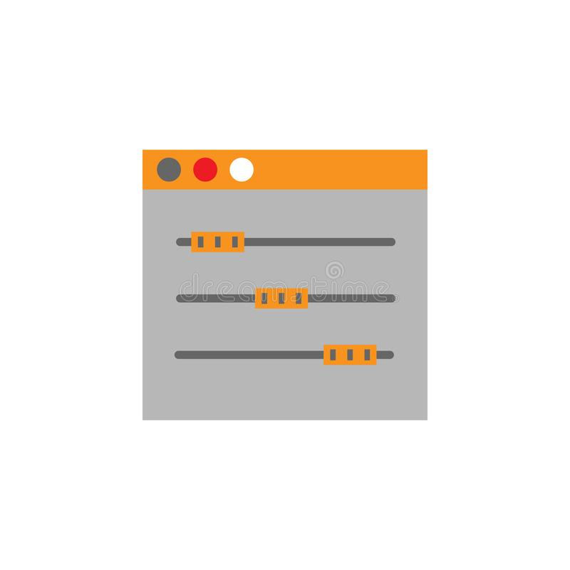 Creativo, icono del equalizador Elemento del icono de Desing de la web para los apps móviles del concepto y de la web Creativo de libre illustration
