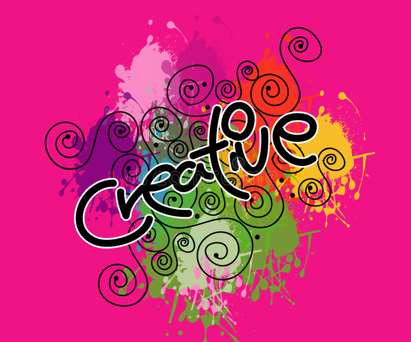 Creativo na cor-de-rosa ilustração stock