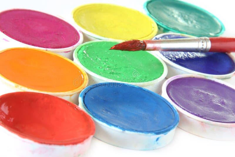 Creativo - spazzola & colore fotografia stock libera da diritti