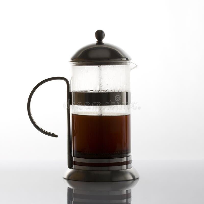Creatore del coffe della pressa del francese fotografie stock