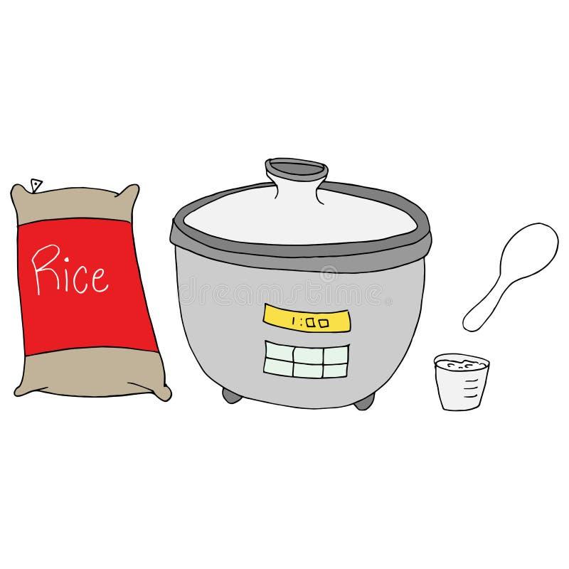Creatore del fornello di riso illustrazione di stock
