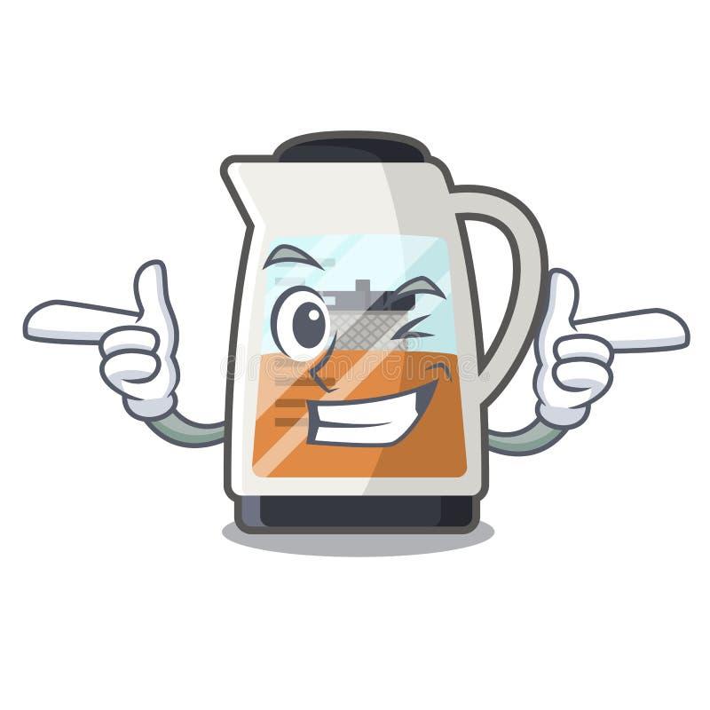Creatore di tè di strizzatina d'occhio nella forma del fumetto illustrazione vettoriale