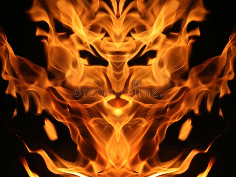 Creatura del fuoco fotografia stock