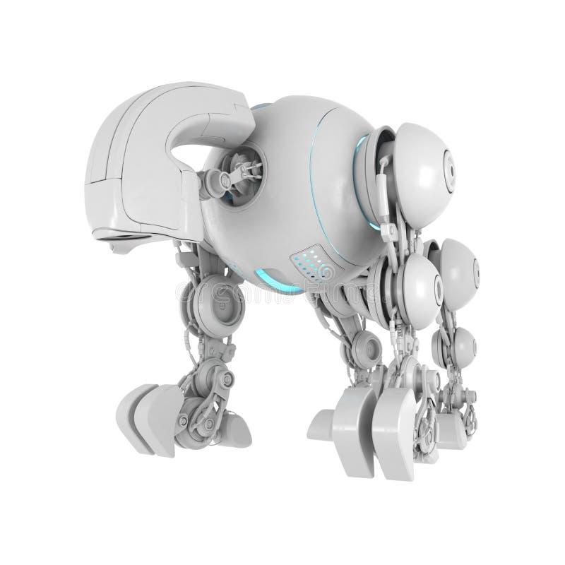 Creatura robot futuristica collegata illustrazione vettoriale
