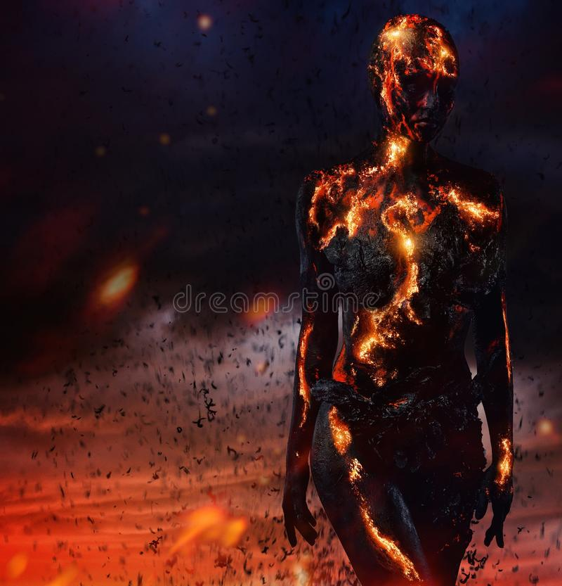 Download Creature made from lava stock photo. Image of mental - 54533614