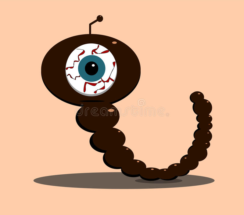 Download Creature with one eye stock vector. Image of bloodshot - 24693034